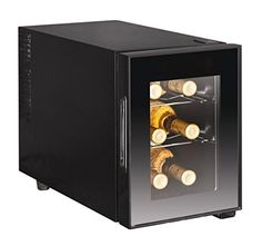 Small Wine Cellars - 6Bottle Wine Cooler Glass Door ** Click image for more details.