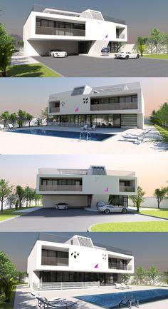 375m2, 5 bed / bath concept luxury home plan from Bespoke-Homes.com Home Design Plans, Plan Design, Contemporary House Plans, Luxury House Plans, Bespoke, Luxury Homes, Modern Design, Concept, Bath