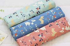 Rabbits and Foxes Pattern Cotton Fabric by Yard  by luckyshop0228, $11.90