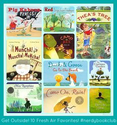 10 Great Books to Get Kids Outside from The Nerdy Book Club Books For Boys, I Love Books, Childrens Books, Books To Read, Kid Books, Baby Books, Reading Library, Kids Reading, Reading Themes