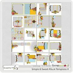Sweet & Simplae Album Templates II by Scrapping With Liz