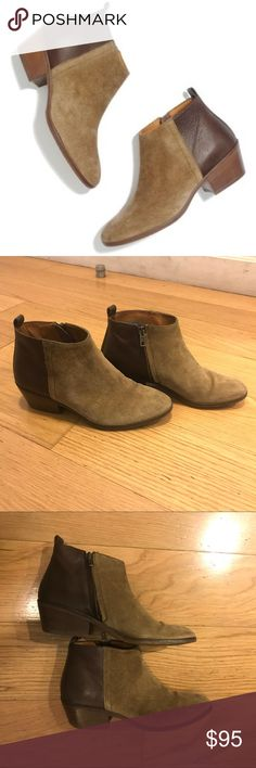 """Madewell Charley Ankle Boot Madewell Charley Ankle Boot. -Size 6. -Hits at ankle. -Leather, suede upper. -9 3/4"""" shaft height  -1 3/4"""" stacked heel. -Leather lining. -Man-made sole. -Excellent condition, some minimal wear in suede.  NO Trades. Please make all offers through offer button. Madewell Shoes Ankle Boots & Booties"""