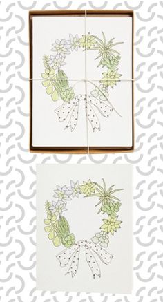 Hartland Brooklyn Succulent Wreath Cards http://rstyle.me/n/t76qwbh9c7