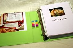 Help with sorting through recipes for binder organization