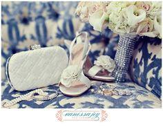 Cara Schultz Weds Craig Tabatchnick at Eagle Oaks Country Club Bride Shoes, Wedding Shoes, Blue White Weddings, Acrylic Painting Flowers, Vintage Flowers, Wedding Pictures, Wedding Details, Real Weddings, Wedding Photography