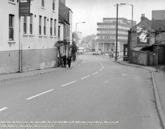 Carlton Hill looking towards Carlton Square, showing the Windsor Castle Public House November 1972