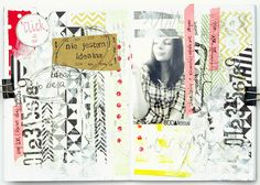 art journal challenge No3/ made by Muma with SODAlicious supplies (www.sodalicious.pl)