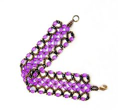 Free pattern for bracelet Harper. Beads Magic. Easy bracelet. #Seed #Bead #Tutorials
