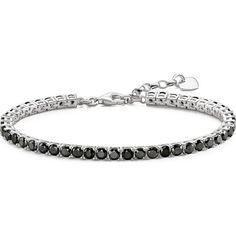 Thomas Sabo Black cubic zirconia tennis bracelet ($189) ❤ liked on Polyvore featuring jewelry, bracelets, thomas sabo, cz jewelry, thomas sabo jewellery, cubic zirconia jewelry and tennis bracelet