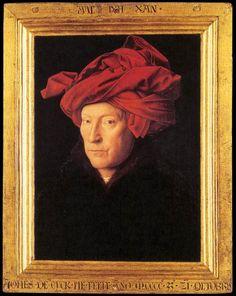 **Bermellón. Óleo sobre tabla. El hombre del turbante Rojo de Jan van Eyck (1433). -5