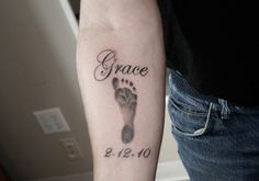 baby memorial tattoos | 35 Fantastic Baby Footprint Tattoos | CreativeFan