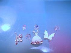 Set Of Floating Charms-Dress Floating Charm-Butterfly Floating Charm-Eiffel Tower Floating Charm-Diva Floating Charm-Origami-Living Locket