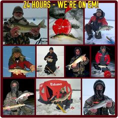 These pictures are just some of the action we've been having within the last 24 hours. Pike Pole Fishing is currently taking on bookings for guided ice fishing trips, but act soon...days are filling up quickly. Also, if you're interested in an unguided ice shack rental, check out Furley Outdoors @ www.furleyoutdoors.com. Jim will hook you up. Who's ready for some winter fun!!!  Captain Adam Walton Pike Pole Fishing Guide Service 608-290-3929  Jim Furley Furley Outdoors 920-397-7318 {#fishing…