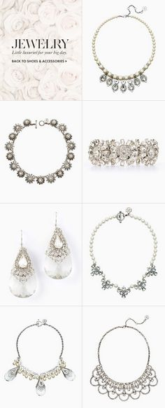 Bridal jewelry by Ann Taylor
