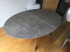 Vulcano ceniza ceramic top with mink matt steel frame. Delivered to our client in High Wycombe. High Wycombe, Leather Bed, Extendable Dining Table, Sofa Design, Modern Bedroom, Contemporary Furniture, Steel Frame, Mink, Cabinet