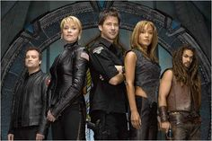 Stargate Atlantis : Bild Amanda Tapping, David Hewlett, Jason Momoa, Joe Flanigan, Rachel Luttrell