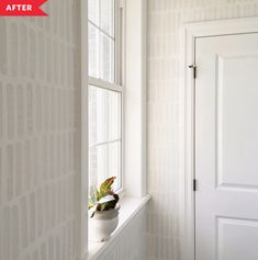 Before and After: These Walls Mimic High-End Wallpaper (for Under $2!)