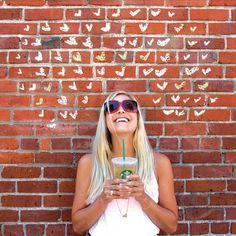 Love the chalk on brick wall! Fun photo idea :)