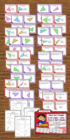 classify triangles by the sides - isosceles, equilateral, and scalene - task cards