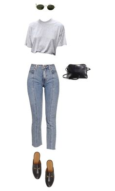 """simple"" by clare-888 ❤ liked on Polyvore featuring The Row, Ray-Ban and Gucci"