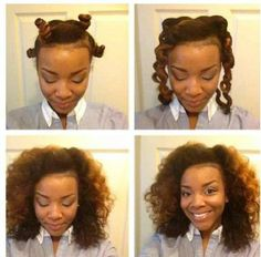 Bantu Knot Out Progression. Have you tried this style yet?