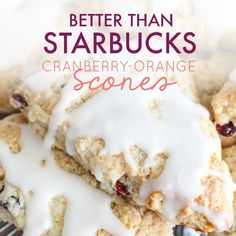 Soft, flaky goodness that you can& help but close your eyes a bit when you bite into it. This really is a better than Starbucks scone recipe, I swear. Starbucks Scones, Breakfast Recipes, Dessert Recipes, Dessert Bread, Sweet Desserts, Breakfast Ideas, Cranberry Orange Scones, Cranberry Cake, Cranberry Recipes