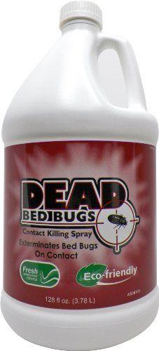 Dead Bed Bugs Contact Killing Spray, Safe - Non-Toxic Bed Bug Killer - 1 Gallon