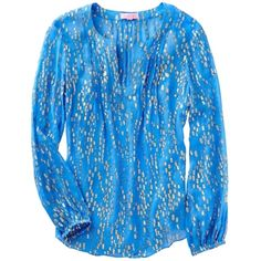 Pre-owned Lilly Pulitzer Bay Blue Colby Silk Top, Sz L Ariel Blue... (130 CAD) ❤ liked on Polyvore featuring tops, blouses, silk blouses, blue silk top, blue silk blouse, crinkle blouse and crinkle top