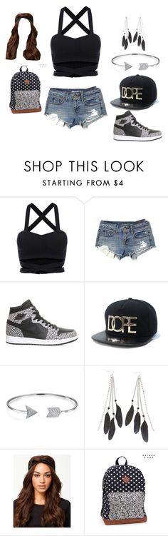 """""""dope"""" by ccally ❤ liked on Polyvore featuring American Eagle Outfitters, NIKE, Bling Jewelry, Charlotte Russe, NLY Accessories and Aéropostale"""
