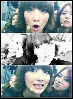 KARA's Ji Young uploads cute selcas with members Goo Hara and Seung Yeon