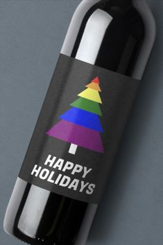 Celebrate the holiday with this rainbow Christmas tree for LGBT awareness and support. Free download at OnlineLabels.com.