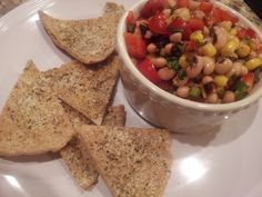 Texas Caviar with Whole Grain Pita Chips » Live Well Furman