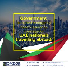 "The Ministry of Foreign Affairs and International Cooperation, MoFAIC has launched ""Traveller"" programme, to provide emergency #Healthinsurance coverage for UAE nationals traveling abroad. The service will give them access to the best medical emergency treatment and medical insurance services. The service also allows registration through the Internet and covers an unlimited number of trips throughout the year, on condition that each trip does not exceed 90 days. #OmegaInsurance…"