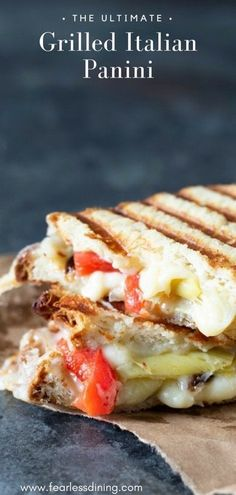 If you love crisp buttery panini, this easy Italian Panini Grill Sandwich is for you! Easy ingredients, you can also make grilled cheese with this recipe. Gluten Free Recipes Side Dishes, Gluten Free Recipes For Lunch, Allergy Free Recipes, Lunch Box Recipes, Delicious Dinner Recipes, Wrap Recipes, Sandwich Recipes, Panini Grill Recipes, Lunch Ideas