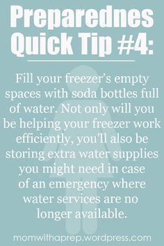Preparedness Quick Tip #4: Store water in unexpected places |  Mom with a Prep
