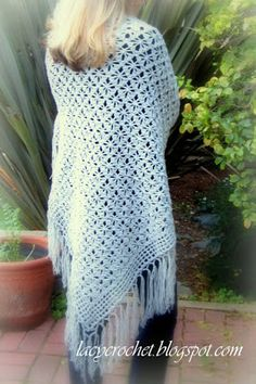 Spider Stitch Shawl Free Pattern ☀CQ #crochet #crafts #DIY. Thank you for sharing! ¯_(ツ)_/¯
