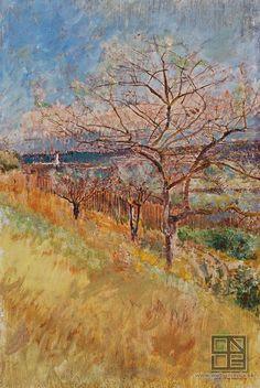 Ladislav Mednansky Udolie s rozkvitnutymi stromami