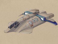 Terradyne Sylph shuttle by Jepray on DeviantArt