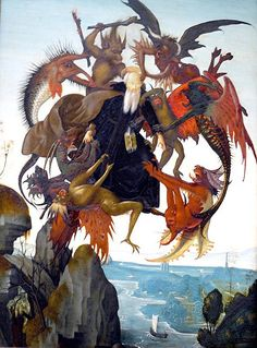 Michelangelo's St. Anthony Tormented by Demons - 1487-1488...his first painting.