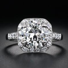 Cute...2.58 Carat European-Cut Diamond Engagement Ring Lang Antiques