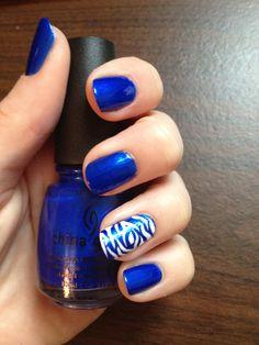 #nails #blue #zebra #chinaglaze