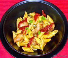 Nejedlé recepty: Těstoviny s kuřecím masem a sušenými rajčaty
