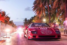 What a scene @gumball3000 in #miami and an #f40 #ferrari