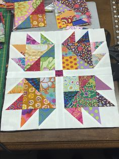 Jellystone pattern from Miss Rosie's Quilt company book Spice of Life. Kaffee Fasset fabric.