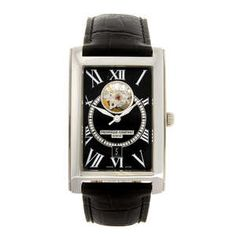 Lot: 140 FREDERIQUE CONSTANT - a gentleman's Heart Beat Date Carree wrist watch.  Estimate GBP: £200 - £300