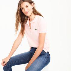 Lacoste® for J.Crew polo shirt women t-shirts & tank tops c Polo Shirt Outfit Women's, Polo Shirt Women, T Shirts For Women, Clothes For Women, Lacoste Polo Shirts, Tennis Shirts, Camisa Polo, Dad To Be Shirts, Kids Shirts