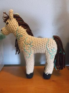 Crochet Nature Earth Forest Elemental Unicorn by SalemsShop, $20.00
