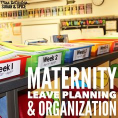 Miss DeCarbo shares how she prepped and organized her classroom before going on maternity leave so that her maternity sub would be all set.