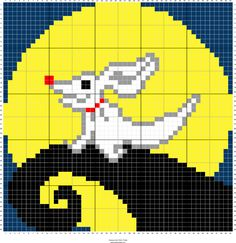 Trendy Knitting Charts Disney Nightmare Before Christmas Ideas Graph Crochet, Pixel Crochet, Crochet Cable, C2c Crochet, Christmas Perler Beads, Diy Perler Beads, Pearler Beads, Cross Stitching, Cross Stitch Embroidery