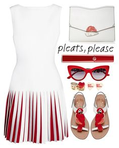 """Pleats, please!"" by simona-altobelli ❤ liked on Polyvore featuring Alaïa, Kate Spade, Proenza Schouler, Giorgio Armani, Dolce&Gabbana, BCBGeneration, Off-White, pleats and polyvorecontest"